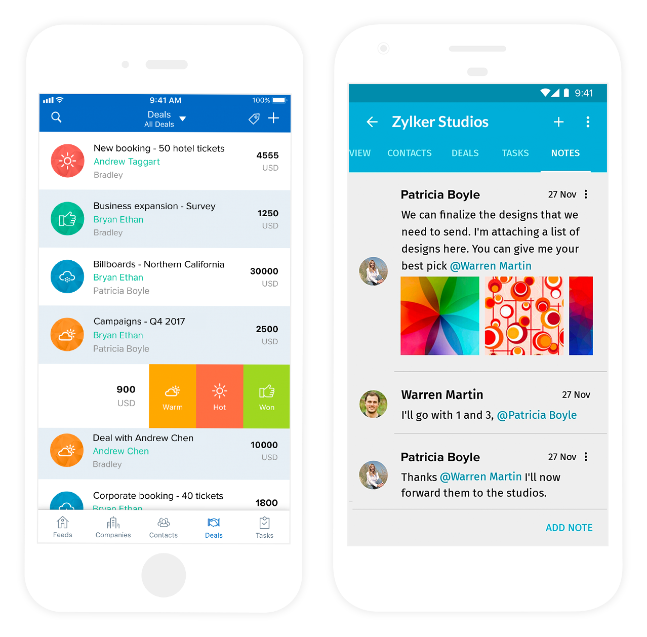 Zoho Contact Manager App